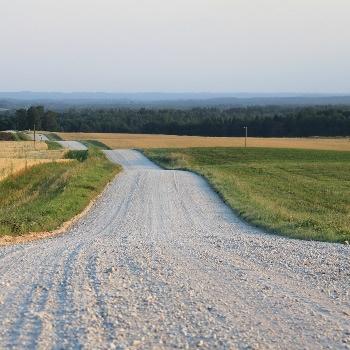 гравийная дорога из щебня 20-40